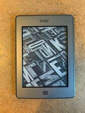 "Amazon Kindle Touch - (4th Generation) - 4GB - Wi-Fi - 6"" - Silver - WORKS GREAT"