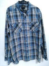 5.11 Tactical Series Mens Size XXL Blue Plaid Long Sleeve Snap Button Up Shirt
