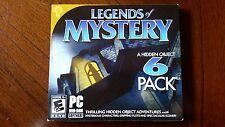LEGENDS OF MYSTERY 6 Pack 2013 Hidden Object PC Games Windows Vista 7 8