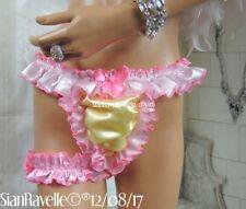 Sian Ravelle Designer Erotic Lemon Pink Satin Lined Snuggle Sissy Cd Tv Knickers