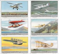 LIEBIG TRADE CARD SET CONQUEST OF THE AIR ( ITALIAN ) SET OF 6 - SCAN