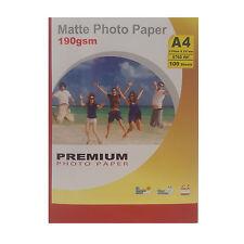 Premium MATE A4 Impresora de inyección Tinta Papel fotográfico 190gsm-100 hojas