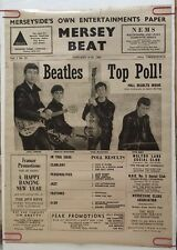 Mersey Beat The Beatles Vintage Poster Print 2000 Pyramid Music Memorabilia