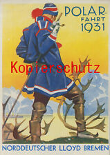 Norddeutscher Lloyd Bremen Werbeplakat Polarfahrt 1931 (#45018)