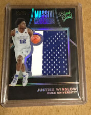 2016 Panini Black Gold Massive Materials Jumbo Patch Justise Winslow 09/10 Duke