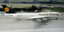 "Lufthansa B747-8 D-ABYI ""Fanhansa- Siegerflieger"" 1/400 by Gemini Jets.BRAND NEW"