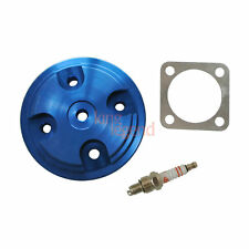 Cylinder Head Cover WT Spark Plug Kit Fit 80cc Motorized Modified Parts Blue