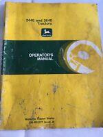 John Deere 2440 & 2640 John Deere Tractors Operator's Manual