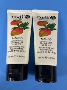 Codi Mango Hand & Body Lotion 100ml / 3.3 fl oz ~ New Sealed (2packs)