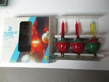 3 Vintage C-7 Noma Electric Co Christmas Bubble Light in Original Box #707