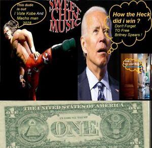 2009 $1 Time to Make Joe Biden Go Hungry Bid on My Dollar vs His Nasty old pens.