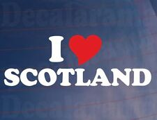 I LOVE/HEART SCOTLAND Novelty Car/Van/Window/Bumper Vinyl Sticker/Decal