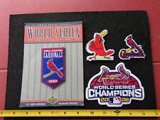VINTAGE  St. Louis Cardinals 2006 & 1982 World Series Patches & More 4 Pc.  Lot