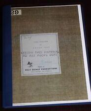 Walt Disney Studio PETER PAN 1946 Story Treatment 87pgs Ted Sears Jack Kinney
