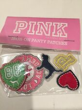 Pink Victoria Secret 5 Pc Iron on Panty Patch University Dog, P, Heart RARE