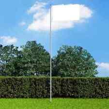vidaXL Telescopic Flagpole Aluminium Weather Resistant Outdoor Flag Poles