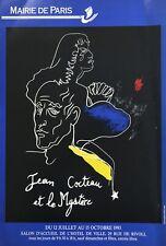 Jean Cocteau - Affiche originale 1993 - Exposition Paris/ Original Poster 1993