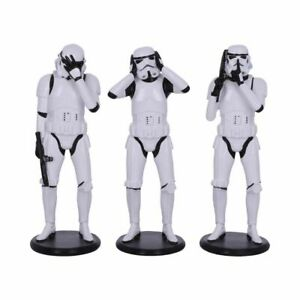 Nemesis Now - Confucius Three Wise Stormtrooper Figurines Set of 3 - 14cm