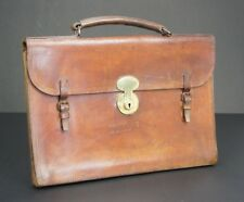 Hand Sewn Vintage English Bridle Leather Briefcase