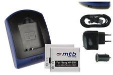 2 Batteries + Chargeur USB NP-BK1 pour Sony Bloggie MHS-CM5, PM1, PM5