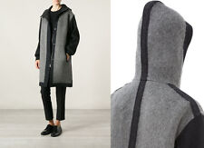 Isabel Marant Etoile Clayton Grey Wool Mohair Blend Hooded Coat Size 34 6 8