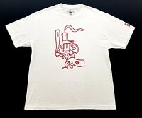Raw Skateboards Boston Sox Gun Logo White Red Tee Size XL Mens T Shirt Kayo DGK