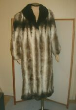 Olympia Limited Faux Fur long Coat women's Size M U.S.A. Made minty
