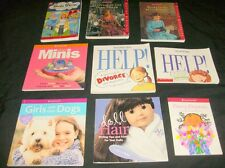 9 AMERICAN GIRL LIBRARY BOOK LOT Help! Girls body crafts projects advice quiz