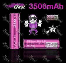 2 Purple Efest 18650 3500mAh 20A Flat Top HIGH DRAIN Rechargeable Battery