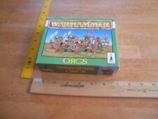ORCS Warhammer game figures Citadel 1991 in box
