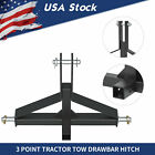 3 Point 2  Receiver Trailer Hitch Drawbar Adapter Category 1 Tow Tractor Kubota