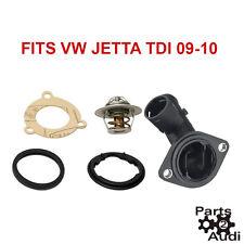 Engine Coolant Thermostat Housing w Thermostat For VW Jetta TDI