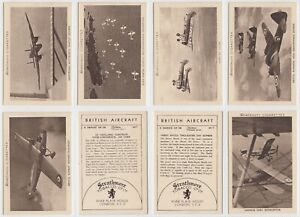 Strathmore Tobacco Co Ltd - British Aircraft (1938) - Type Cards/Odds