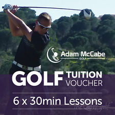 PGA Professional Tuition Package - 6 x 30 min lessons - great Xmas present/gift!