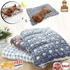 Pet Mat Paw Cat Dog Puppy Fleece Mattre Cushion Bed Blanket Warm Soft Crate Mat