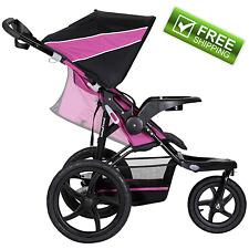 Baby Trend XCEL Jogging Stroller Raspberry Reclining Seat All-Terrain