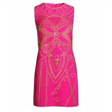 Versace for H&M Pink and Gold Studded Dress, SZ 4