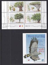 RSA1026) RSA 1998 World Post Day M/S, Trees block of 4, MUH
