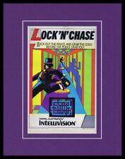 Lock N Chase 1982 Intellivsion Framed 11x14 ORIGINAL Vintage Advertisement