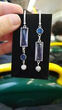 Handmade Earrings, Korean style Purple Dangle Earrings