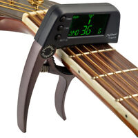 AM_ 2in1 Clip-On Chromatic Digital Tuner for Acoustic Guitar Violin Instrument H