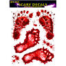 Halloween BLOODY FOOT PRINT Stickers Zombie Dead Party Prop Scary Decoration