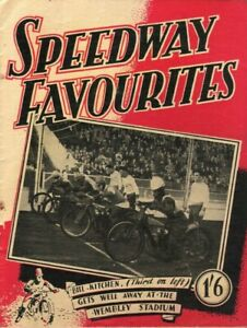 Speedway Favourites - Vintage Motorcycle Racing News Album - Circa 1946