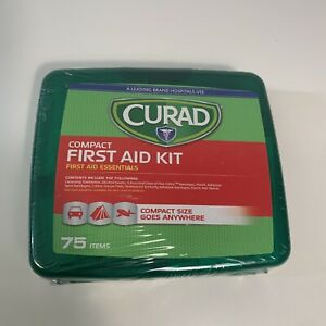 Curad Compact First Aid Kit, Compact NEW, 74 Items Travel Camping Car Essentials