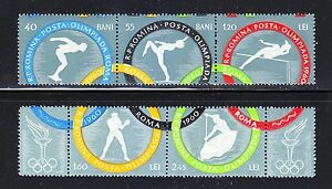 Romania 1960 MNH Mi 1853-1858 Sc 1326-1330 Summer Olympic Games, Rome.Italy **