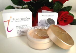 Jane Iredale Amazing Base Loose Powder - Matte Powder 10.5 g .37 oz NIB + MORE