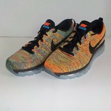 Nike FLYKNIT MAX Running Shoes RAINBOW BLACK 620659 005 Woman Size 9.5 $225 SRP