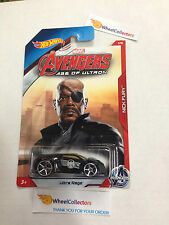 Ultra Rage * Nick Fury * Avengers Marvel * 2015 Hot Wheels * Walmart Only * E35