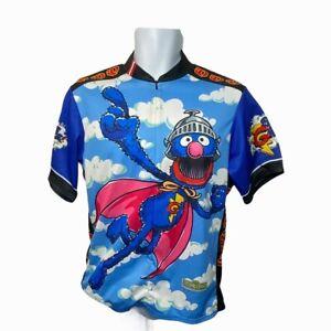 "Pearl iZumi Sesame Street Super Grover Cycling Jersey Medium 40"" Chest Rare 2006"