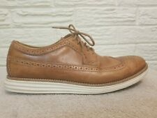 Cole Haan Men's Lunar Grand Longwing Derby Shoes Leather Beige Size 10.5M